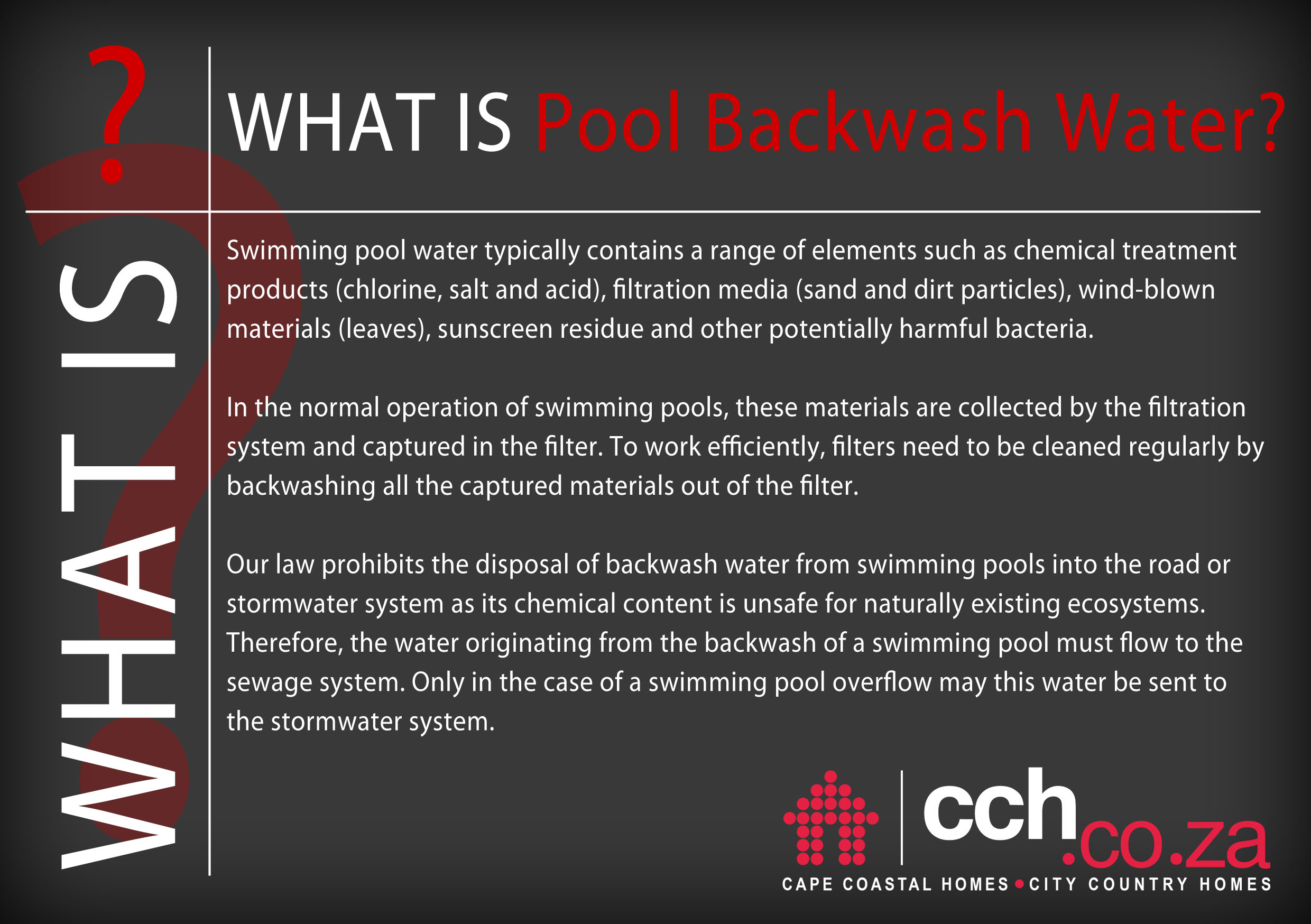 Good To Know - What Is Pool Backwash Water u0026 How To Legally Get Rid Of It?